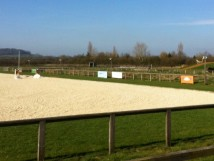 The 90m x 45m outdoor arena & XC Paddock