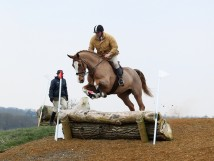 Rory Gilsenham competing in a RHIS Working Hunter Class on the XC Course
